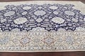 Palace Sized Wool/Silk Nain Persian Blue Rug 13x20 image 18
