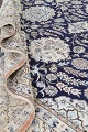 Palace Sized Wool/Silk Nain Persian Blue Rug 13x20 image 21