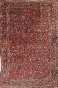 Palace Size Antique Red Bidjar Persian Rug 12x18