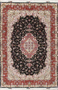 Vegetable Dye Tabriz Wool/Silk Persian Rug 7x10