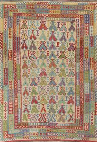 Modern Flat-Weave Turkish Kilim Area Rug 8x12