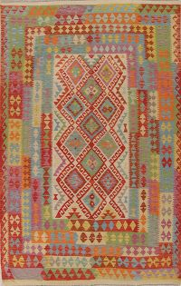 Modern Flat-Weave Turkish Kilim Area Rug 7x10