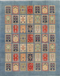 Patch-Work Kazak Pakistan Wool Rug 8x10