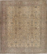 Tabriz Muted Distressed Persian Rug 10x12