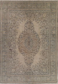 Tabriz Muted Distressed Persian Rug 11x16