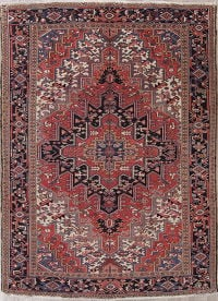 Geometric Heriz Persian Wool Rug 7x11