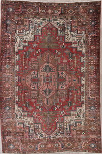 Red Heriz Persian Wool Rug 7x11
