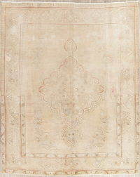Tabriz Muted Distressed Area Rug 8x10