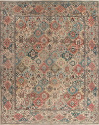 All-Over Tabriz Persian Wool Rug 10x13