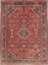 Antique Red Mahal Persian Wool Rug 9x12