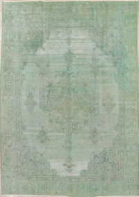 Over-Dye Tabriz Muted Distressed Rug 8x11