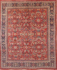 Floral Red Mahal Persian Wool Rug 10x12
