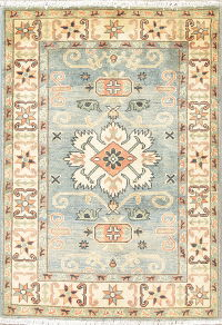 Light Blue Kazak-Chechen Oriental Rug 3x4