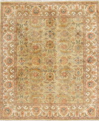 Floral Agra Indian Oriental Wool Rug 8x10