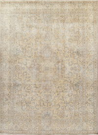 Antique Tabriz Muted Distressed Persian Rug 10x13