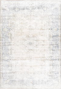 Antique Muted Distressed Kerman Persian Rug 8x11