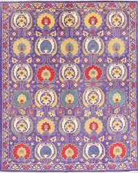 Purple Kazak-Chechen Oriental Area Rug 8x10