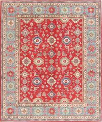 Red Kazak-Chechen Oriental Area Rug 8x10