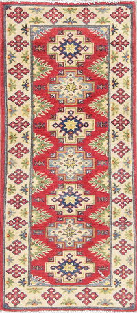 Geometric Kazak Pakistan Wool Rug 2x5 Runner