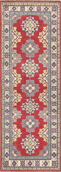 Red Kazak Pakistan Wool Rug 2x6 Runner