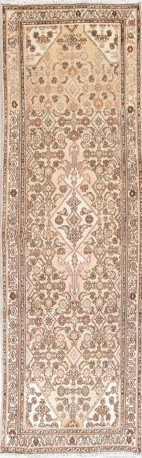 Muted Color Hamedan Persian Runner Rug 3x9