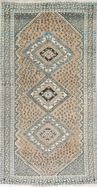 Geometric Shiraz Persian Distressed Rug 5x10
