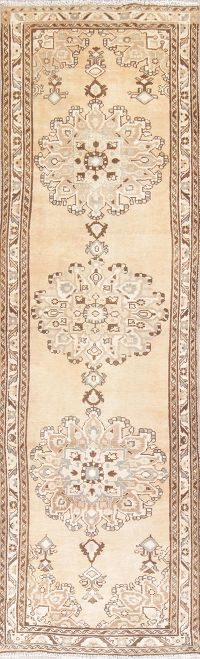 Muted Color Malayer Persian Runner Rug 3x10