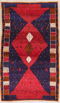 Gabbeh Shiraz Persian Runner Rug 3x6