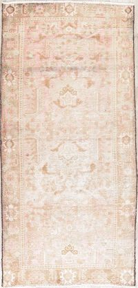 Muted Distressed Bakhtiari Persian Runner Rugs 3x7
