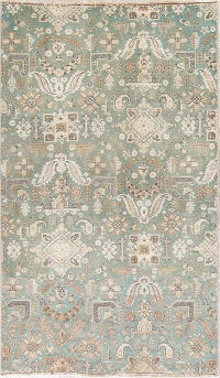All-Over Tabriz Persian Wool Area Rug 4x7