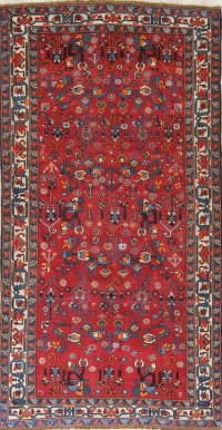 Antique Red Bakhtiari Persian Area Rug 5x10