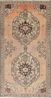 Geometric Bakhtiari Persian Distressed Rug 5x9