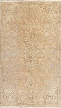 Tabriz Muted Distressed Persian Rug 5x9