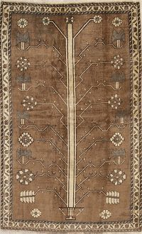 Brown Gabbeh Shiraz Persian Rug 4x7