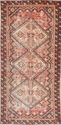 Antique Bakhtiari Persian Wool Runner Rug 5x10
