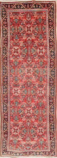 Red Mahal Persian Rug 4x10 Runner