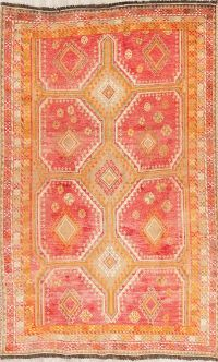 Antique Coral Red Lori Persian Wool Rug 5x7