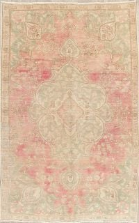 Tabriz Muted Distressed Persian Area Rug 5x8