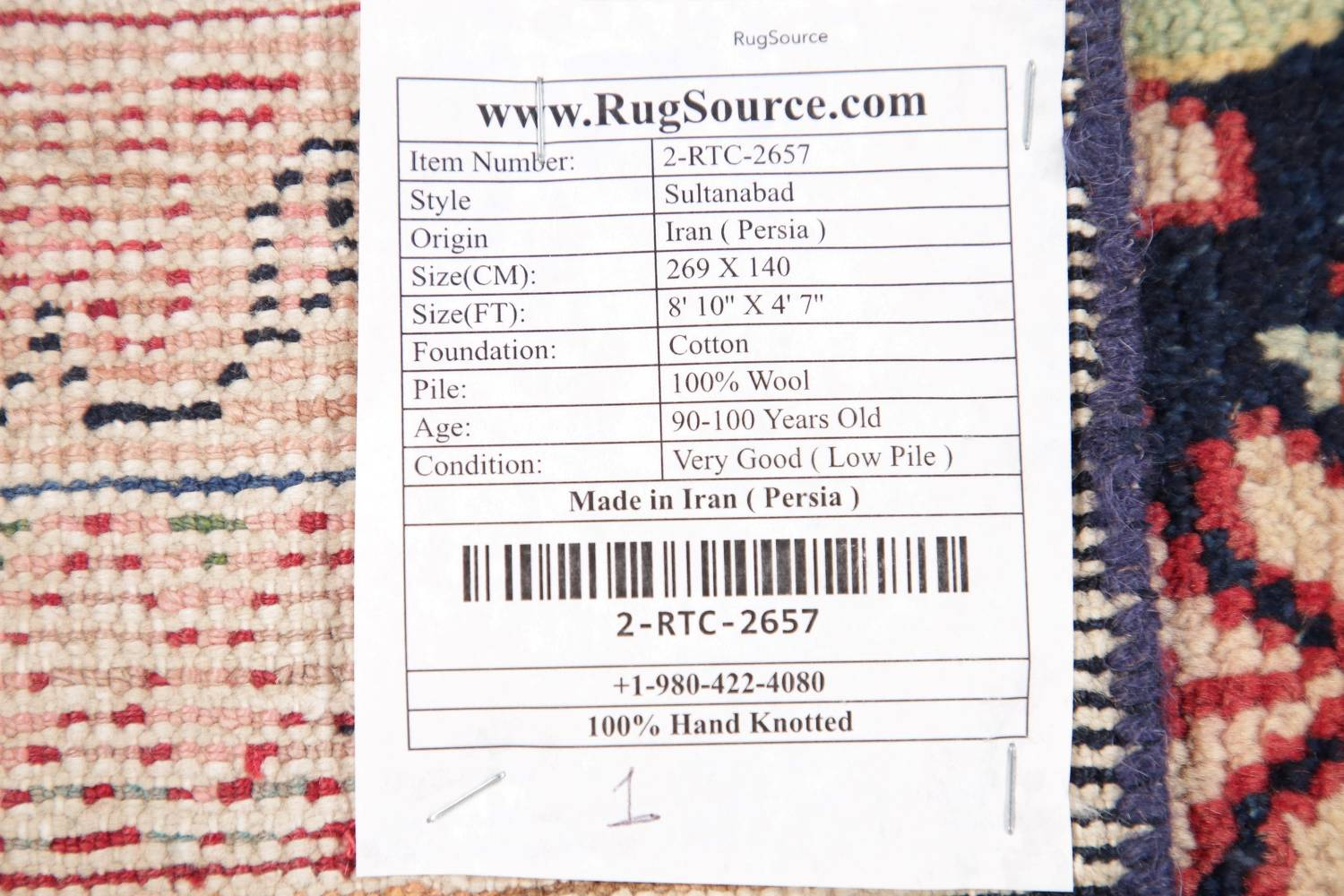Antique Navy Blue Sultanabad Persian Runner Rug 5x9 image 22