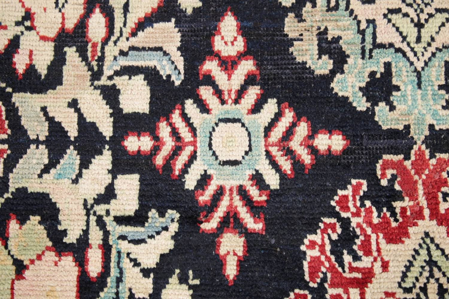 Antique Navy Blue Sultanabad Persian Runner Rug 5x9 image 7