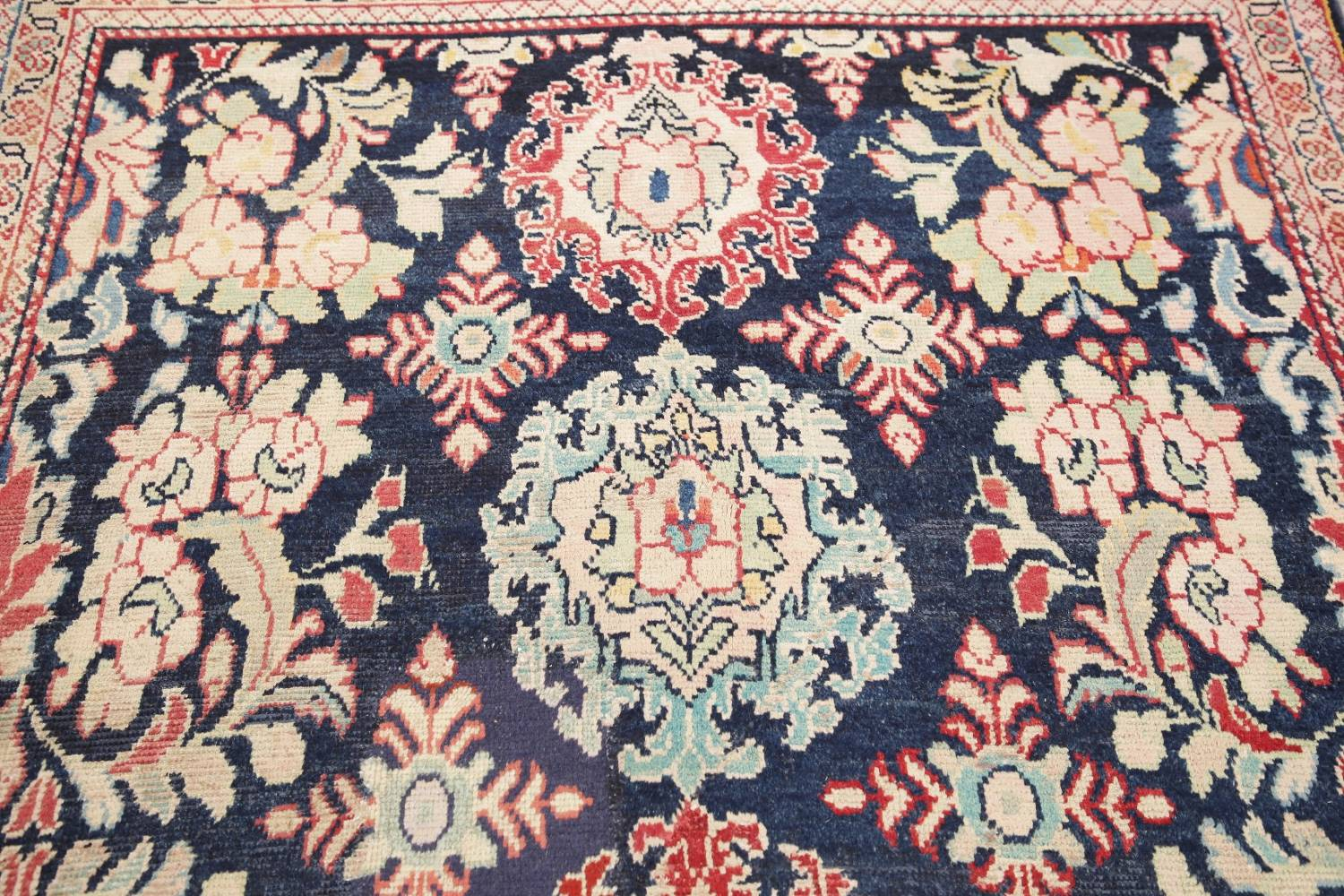Antique Navy Blue Sultanabad Persian Runner Rug 5x9 image 13