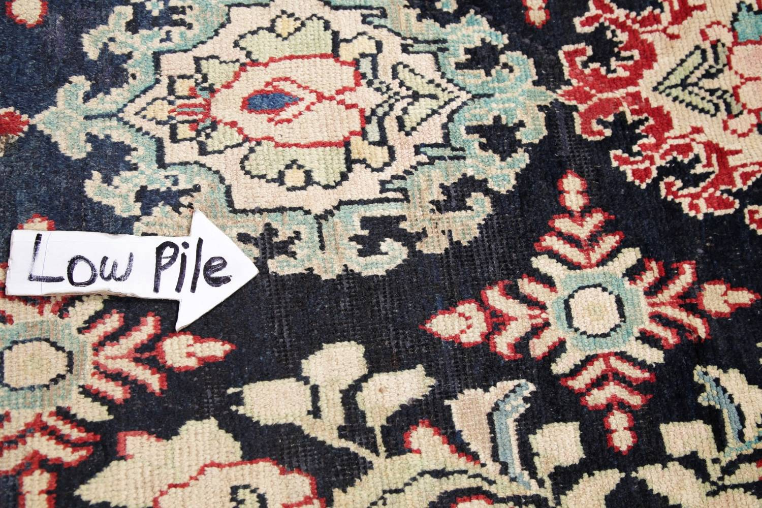 Antique Navy Blue Sultanabad Persian Runner Rug 5x9 image 12