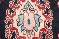 Antique Navy Blue Sultanabad Persian Runner Rug 5x9 image 9