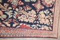 Antique Navy Blue Sultanabad Persian Runner Rug 5x9 image 14
