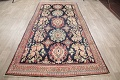 Antique Navy Blue Sultanabad Persian Runner Rug 5x9 image 16