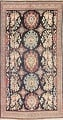 Antique Navy Blue Sultanabad Persian Runner Rug 5x9 image 1