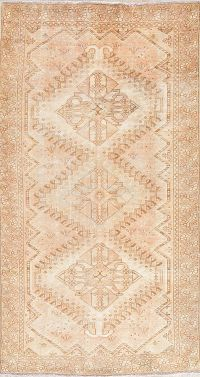 Muted Distressed Shiraz Persian Rug 5x10 Runner