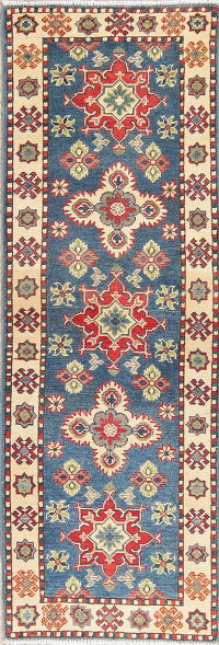 Blue Kazak Pakistan Wool Rug 2x6 Runner