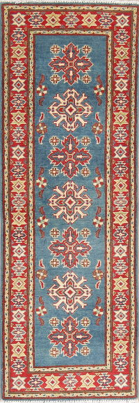 Geometric Kazak Pakistan Wool Rug 2x6 Runner