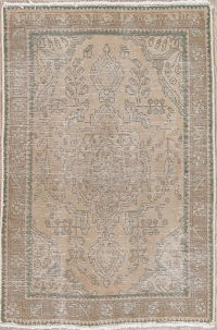 Muted Distressed Tabriz Wool Persian Rug 3x5